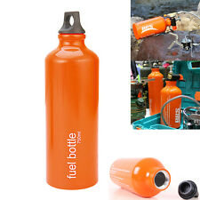 Aluminum Alloy 750ml Fuel Bottle Oil Stove Flat Tank fr Survival Outdoor Camping