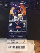 2016 NEW YORK METS VS PHILADELPHIA PHILLIES TICKET STUB 9/24 MAIKEL FRANCO HR