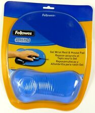 91141 FELLOWES Blue Crystal Comfortable Mouse Pad/Wrist Rest