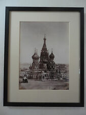 Antique Russian Albumen Photo Tsar Ivan Terrible St Basils Cathedral 1879 Moscow