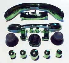 Xbox 360 Chrome Green Full Set D-pad, ABXY, Triggers, Bumper, Mic Trim Mod Kit