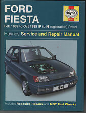 FORD FIESTA - Haynes Workshop Manual - 1989 to 1995 petrol models - USED