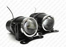 H3 HID Ready Universal Glass Projector Fog Lights Driving Lamps Kit JDM Euro