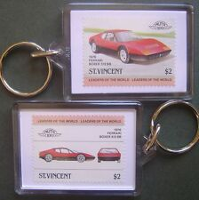 1976 FERRARI BOXER 512 BB Car Stamp Keyring (Auto 100 Automobile)