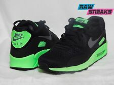 Nike Air Max 90 Premium Comfort Mens shoes 599405 003 SZ 9.5 Black / Lime