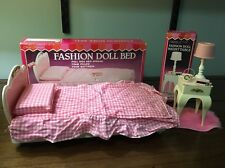 Miss Merry's Fashion Doll Bed And Night Table With Boxes Complete Barbie Candi