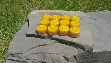 12 Hand Poured Beeswax Tealight Candles, All-natural Cotton Wick, Clear Cups
