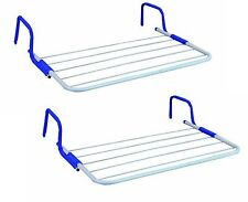 2x 5 Bar Radiator Laundry Dryer Airer Caravan Balcony Towel Rail Clothes Hanger