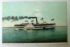 POSTCARD STEAMSHIP A WEHRLE JR EN ROUTE TO CEDAR POINT OHIO #2u76y