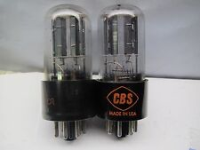 CBS  6SN7 GT  PLATINUM MATCHED PAIR  Well-Balanced Triodes IN  Gm & Ip