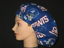Surgical Scrub Hats/Caps NFL New York Giants blue with helmets and red lettering