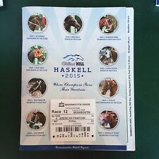 AMERICAN PHAROAH MONMOUTH PARK - HASKELL $2 WIN TICKET, RESULTS & PROGRAM