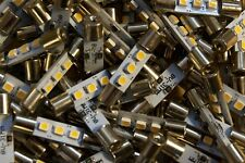 LOT of 100 WARM WHITE LED Fuse Lamps For Vintage Receivers Bulk Parts NEW