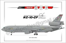 KC-10-CF TRAVIS AFB - Aircraft Poster Profile