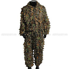 3D Camouflage Clothing Woodland Jungle Ghillie Suit Leaf Military Hunting Set