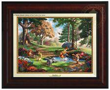 Thomas Kinkade Winnie The Pooh I Canvas Classic (Burl Frame)