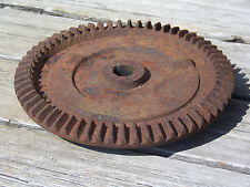 "Industrial Cast Iron 10-1/2"" Cog Gear Steampunk Machine Age Lamp Rustic Decor"