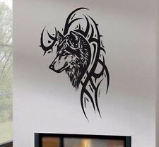 Wall Decor Vinyl Decal Sticker Tribal Wolf tz793