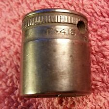 """Vintage SNAP-ON TOOL 8 Point Socket F-416 1/2"""" for 3/8"""" drive"""