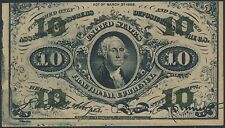 Fr1255 10¢ Green Reverse Choice Cu Fractional Currency Br5819