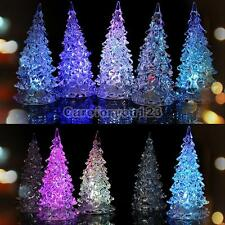 Mini Christmas Tree Ice Crystal Colorful LED Desk Decor/Table Lamp Night Light