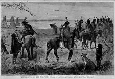 INDIANS YOUNG BUCKS ON WAR PATH HORSES ARROWS, RED SKIN