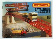 Vintage 1981/82 Matchbox Lesney Collector's Toy Dealer Catalog