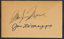 Marilyn Monroe & Joe Dimaggio Autograph Reprints On Old 3x5 Card
