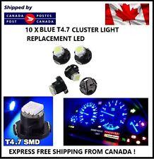 10x T5 T4.7 5050 1SMD BLUE LED Bulbs Dashboard Cluster Gauge Side Light DC12V