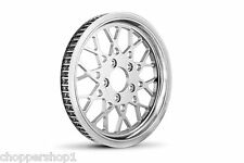 "HARLEY PULLEY MESH STYLE 70 TOOTH 1 1/8"" WIDE BELT CHROME PLATED 2000-2006 FLSTC"
