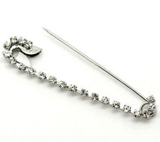 Silver Colour Multi Rhinestone Pin Brooch ideal for wrap, scarf or cardigan etc