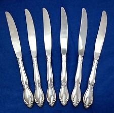 Oneida Ltd STRATHMORE (6) Modern Hollow Dinner Knives Deluxe Stainless Flatware