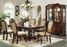 "Acme ""Chateau De Ville"" Espresso Dining 7 Piece Dining Set Furniture 64075"
