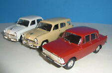 Modello 3x Moskwitsch/Moskvitch 408 ROSSO + 423 STATION WAGON + 407/403 BERLINA 1:43