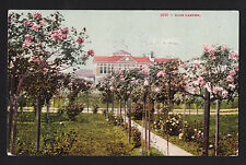 1908 Topiary Rose Garden Portland Oregon postcard