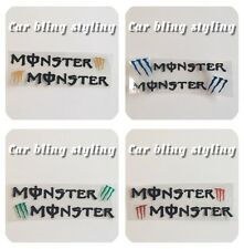 MONSTER Car Handle Sticker  Decal Styling 4 Door Bikes Helmets.Silver Black Whit