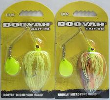 2 - BOOYAH BAIT  Micro Pond Magic - 1/8 oz. - Pumpkinseed & Lightning Strike