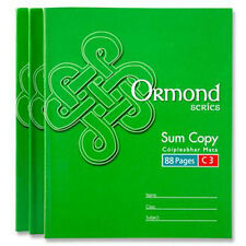 5 xOrmond C3 School Maths 7mm Squared Exercise Book 88Pages A5+ Trendy 11112
