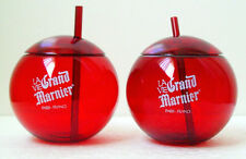 GRAND MARNIER ACRYLIC RED BALL GLASSES - Pair - Collectible