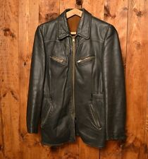 LUFTWAFFE OLD MILITARY RARE LEATHER HORSEHIDE WW2 GERMAN COAT JACKET 40-M