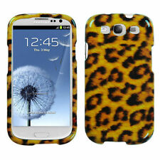 For Samsung Galaxy SIII S3 - HARD PROTECTOR SKIN CASE COVER GOLD LEOPARD CHEETAH