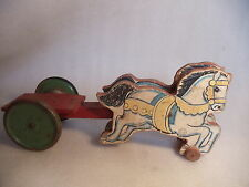 1940's N.N. Hill Brass Co. wooden Horse pull toy Hampton, CT