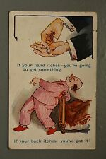R&L Postcard: Comic, Inter Art Holborn, Itchy Hand & Back Scratches