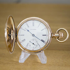 Fabulous 15 Jewel Waltham 14ct Gold Filled Full Hunter Pocket Watch