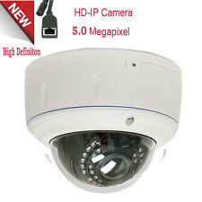 5MP 1080P Outdoor PoE Dome Security IP Camera Adj 2.8-12mm Varifocal Lens ONVIF