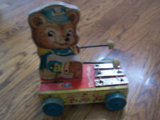 Vintage Fisher Price Tiny Teddy Zilo Xylophone Pull Toy