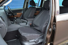 TAILORED FRONT AND REAR WATERPROOF SEAT COVERS BLACK FOR VW VOLKSWAGEN AMAROK