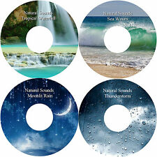 Natural Sounds Water Rain Sea Thunder 4 CDs Relaxation Stress Relief Sleep Aid