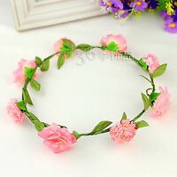 Women Girl Flower princess Bohemian Bride Wedding Beach hair headband PROP