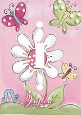 PERSONALIZED DANCING BUTTERFLIES AROUND FLOWER LIGHT SWITCH PLATE COVER